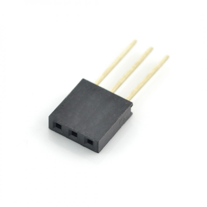 Socket 1x3pin - 2,54mm - long*