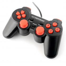 Gamepad Warrior - czarno-czerwony