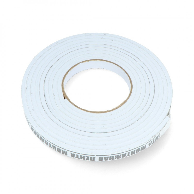 Foam tape, self-adhesive double sided 15mm x 3,5m