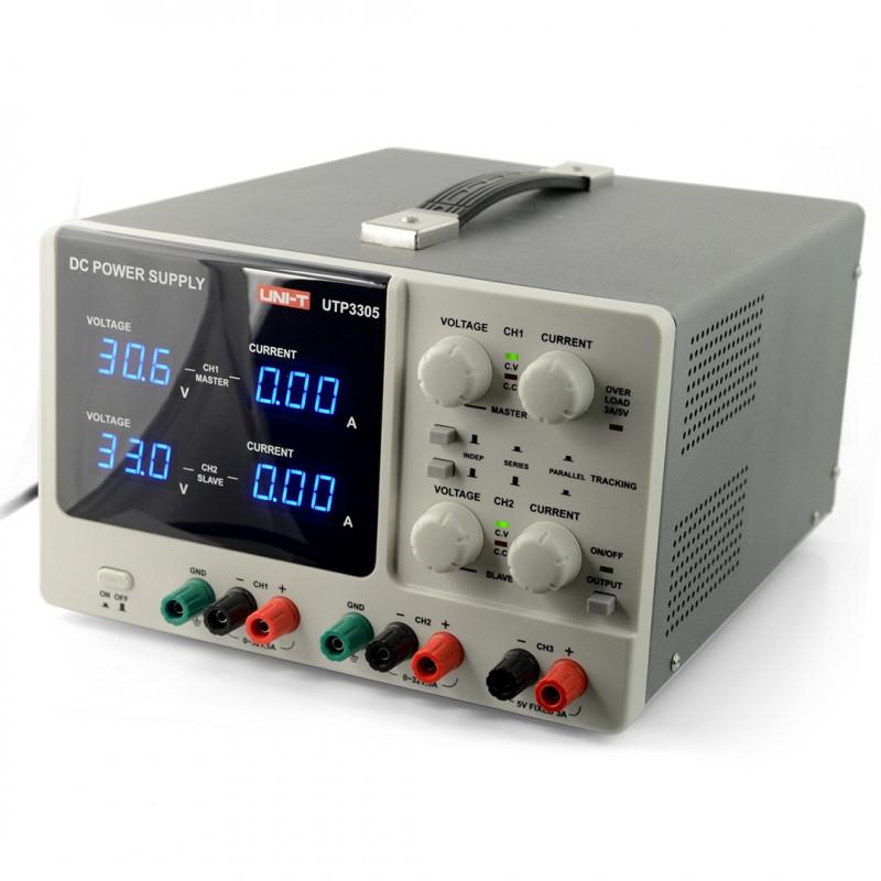 Zasilacz laboratoryjny 3in1 UNI-T UTP3305 2x 0-32V/0-5A+ 1x 5V/5A
