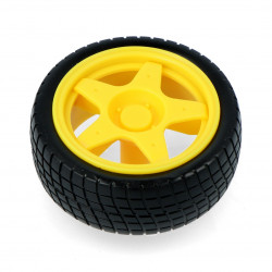 Wheel 65x26mm - yellow
