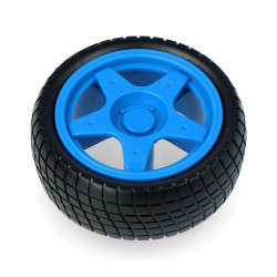 Wheel with tire 65x26mm - blue