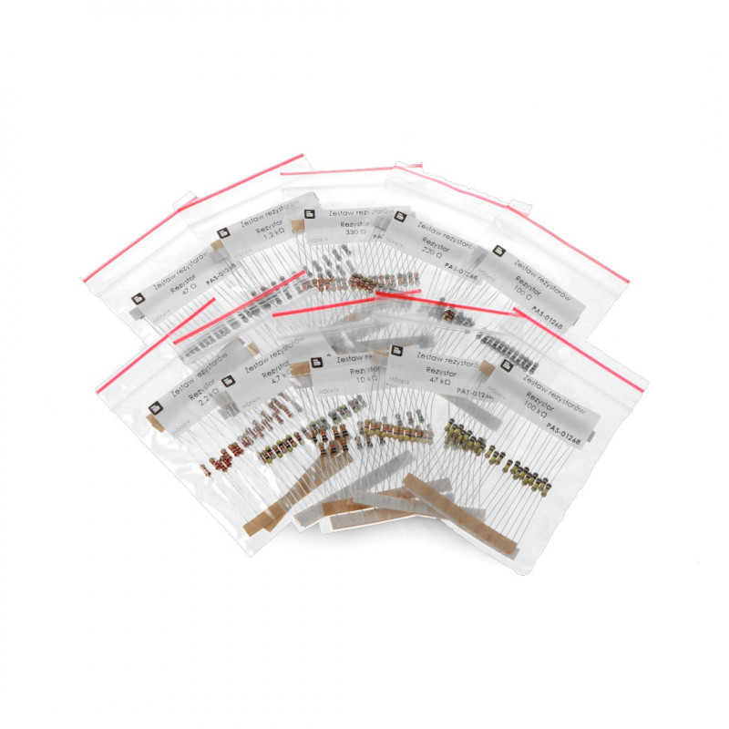 Set of resistors CF THT 1/4W - 200pcs*