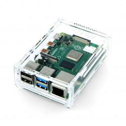 Obudowa Raspberry Pi Model 4B przezroczysta