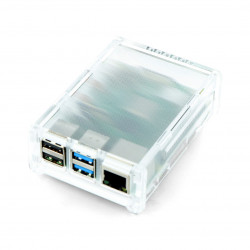 Case Raspberry Pi Model 4B - transparent matte