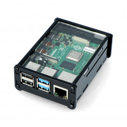 Case Raspberry Pi Model 4B - black transparent
