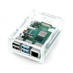 Case Raspberry Pi Model 4B with camera mount - transparent