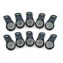 RFID pastille S0990-BK - black holder - 10pcs