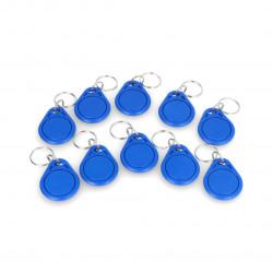 RFID keychain S303B-BE - 13,56MHz - blue - 10pcs