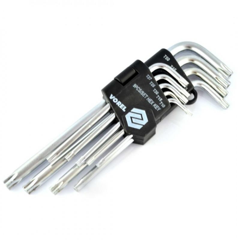 TORX T10-T50 key set - 9 pcs.