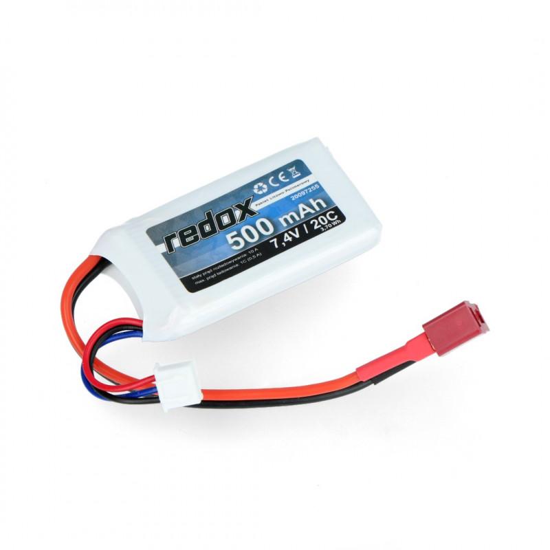 Pakiet Li-Pol Redox 500mAh 20C 2S 7.4V