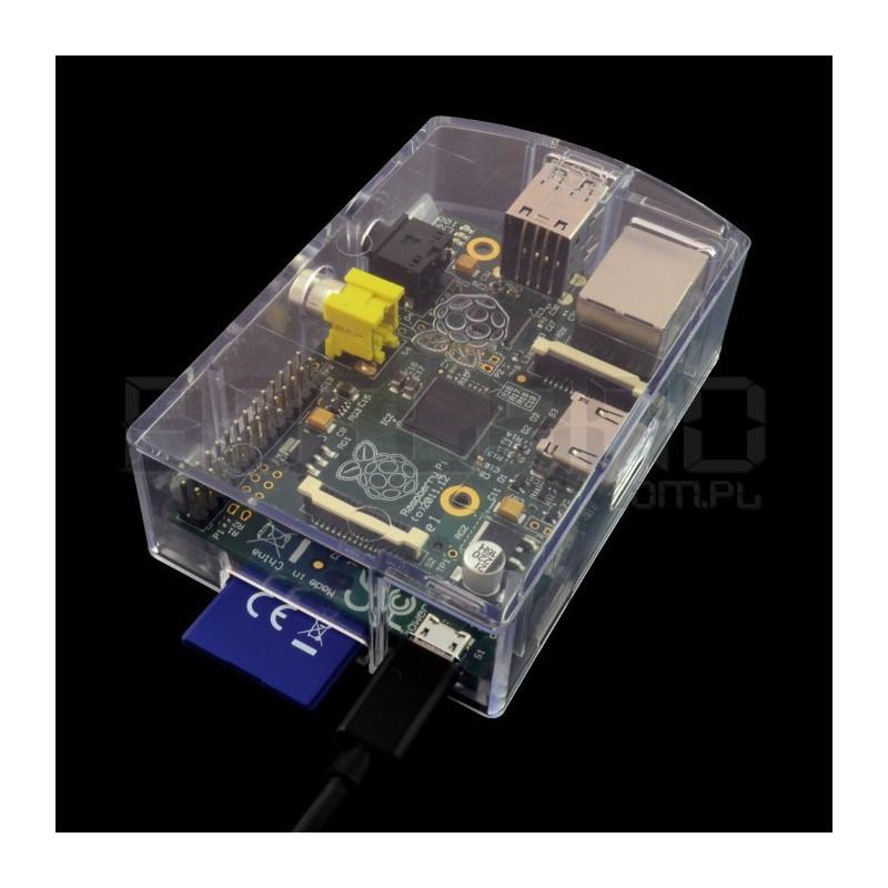 Obudowa Raspberry Pi Model B RS - przezroczysta