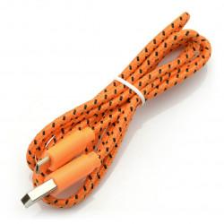 Przewód microUSB B - A w pomarańczowym oplocie EB175OB - 1m