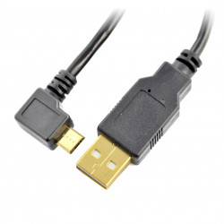 MicroUSB B - A - Blow - 1,0m angular - black