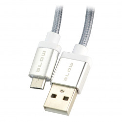 Micro USB cable HQ - silver