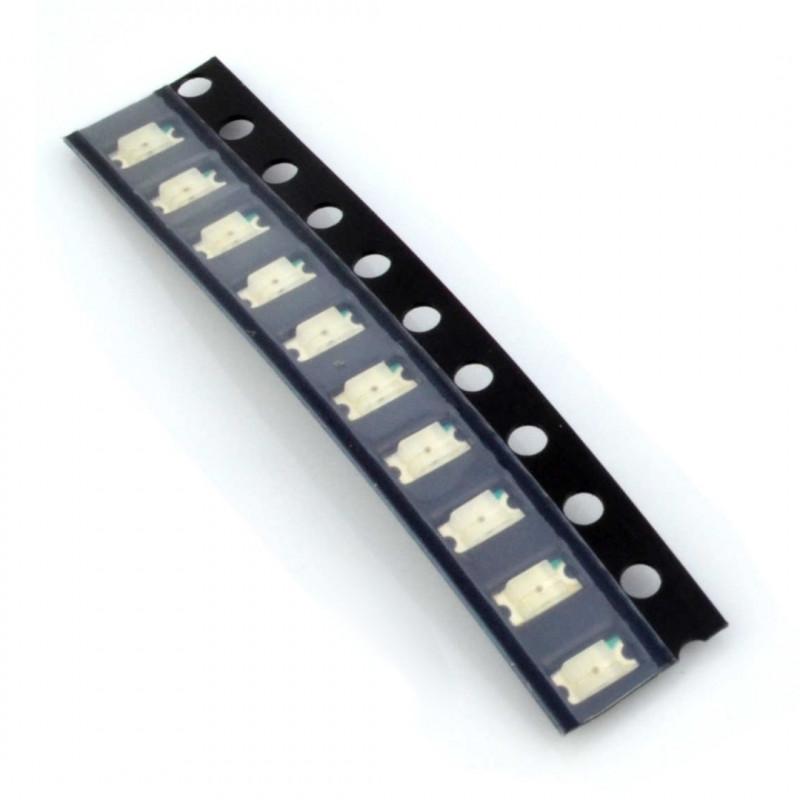Dioda LED SMD 1206 czerwona - 10szt.