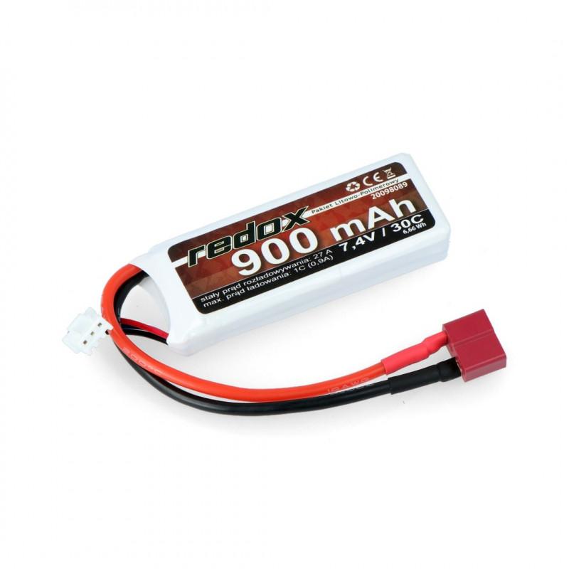 Pakiet Li-Pol Redox 900mAh 30C 2S 7.4V