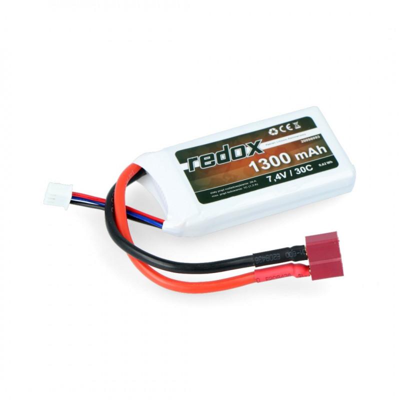 Pakiet Li-Pol Redox 1300mAh 30C 2S 7.4V