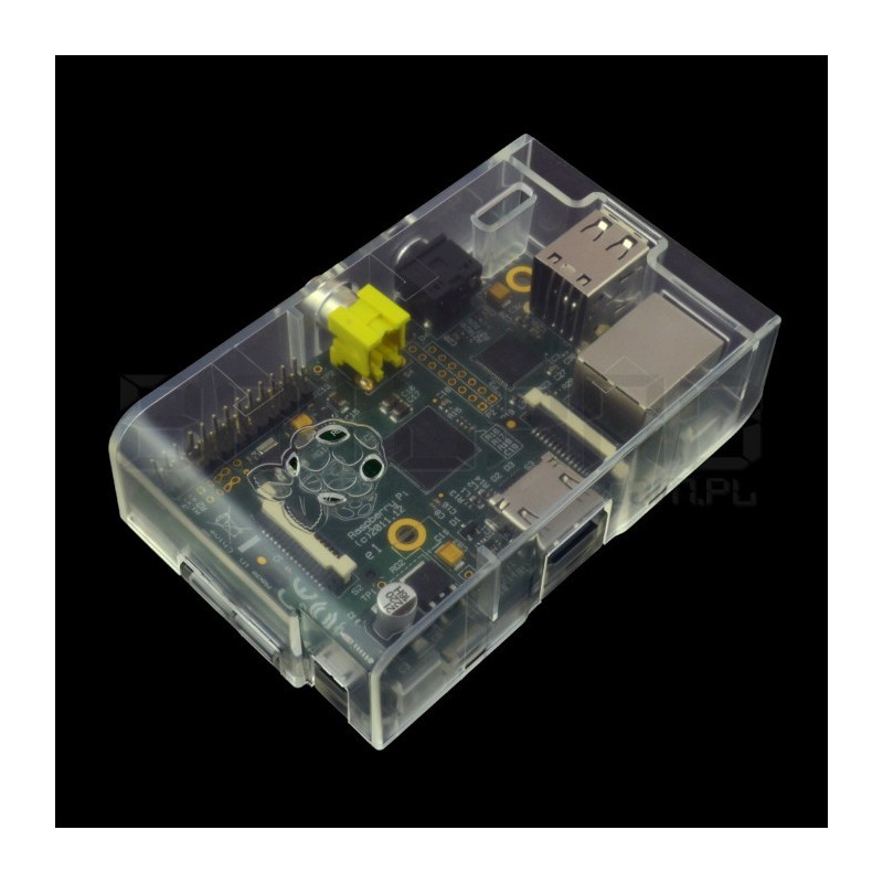 Case Raspberry Pi B Model Multicomp Farnell - transparent