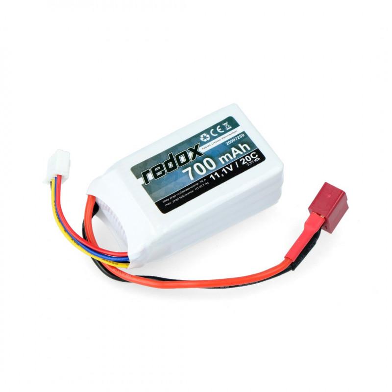 Pakiet Li-Pol Redox 700mAh 20C 3S 11.1V