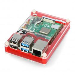 Obudowa do Raspberry Pi Model 4B Pibow Coupé 4 – Czerwona