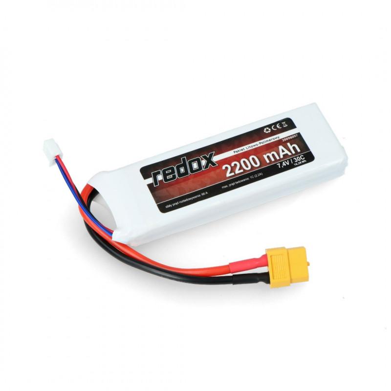Pakiet Li-Pol Redox 2200mAh 30C 2S 7.4V