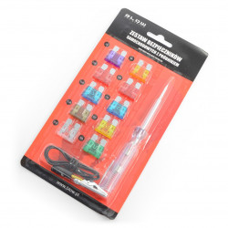 Car Fuse Set Midi 3-30A - 10pcs + tester