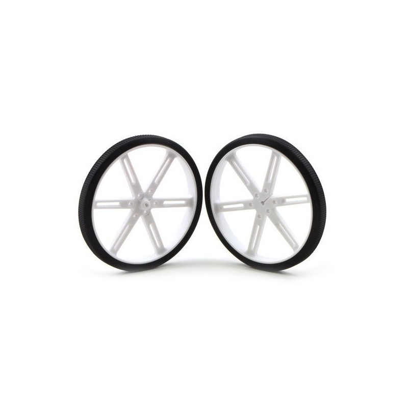 90x10mm Wheels - white - Pololu 1439*