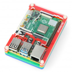 Obudowa do Raspberry Pi Model 4B Pibow Coupé 4 – Rainbow