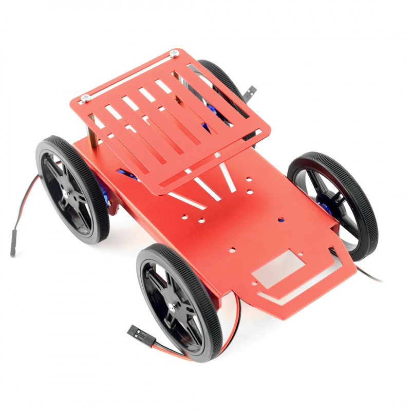 Feetech FT-MC-004-KIT 4WD - Aluminium 4 Wheel Robot Chassis + FM90 Servos_