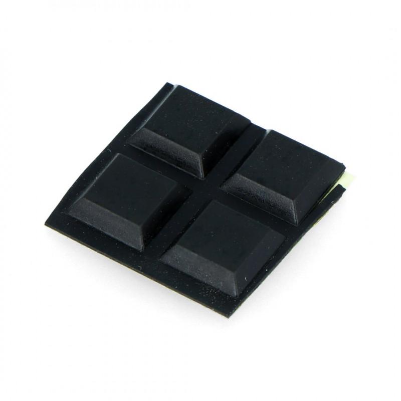Self-adhesive square feet, low 12x12mm - 4pcs_