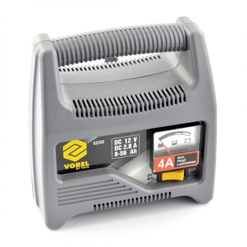 Ładowarka do akumulatorów - prostownik samochodowy 12V 2,8A - Vorel 82550