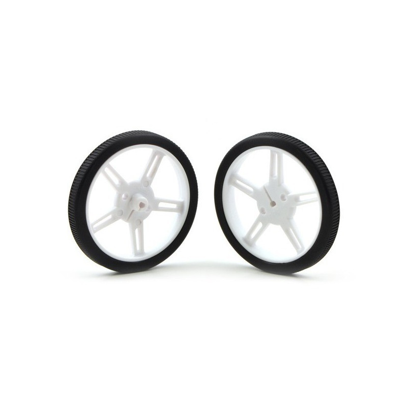 60x8mm Wheels - white - Pololu 1424*