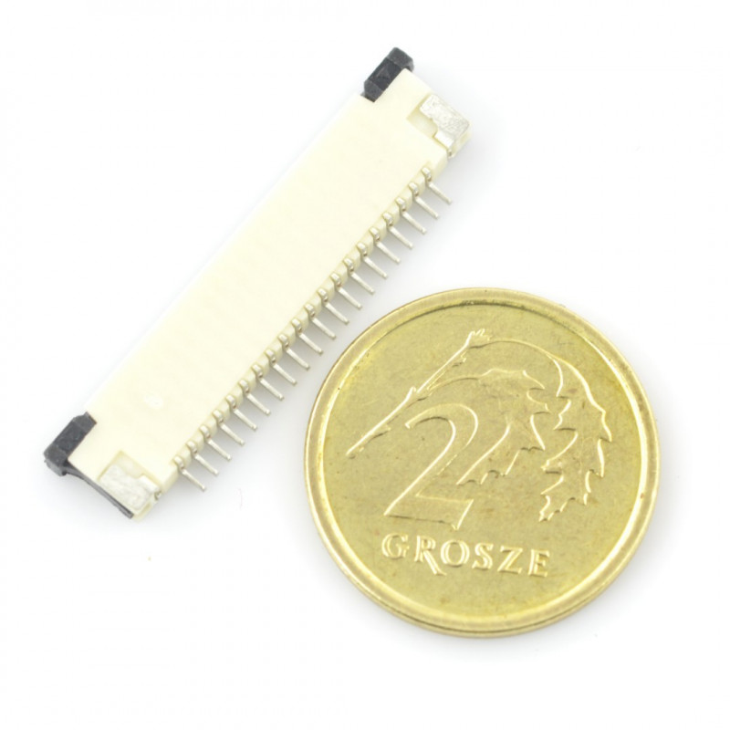 Connector FFC / FPC ZIF 20 pin, pitch 1mm*
