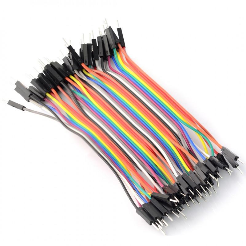 Przewody połączeniowe męsko-męskie 10cm - 40szt.