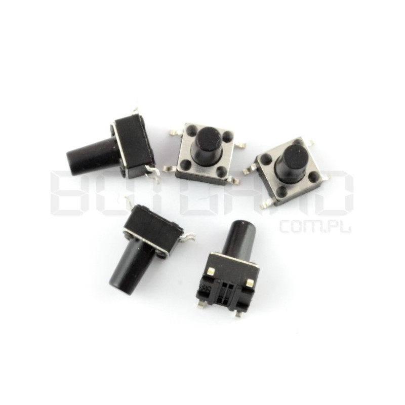 Tact Switch 6x6, 9.5mm DIP - 5szt.