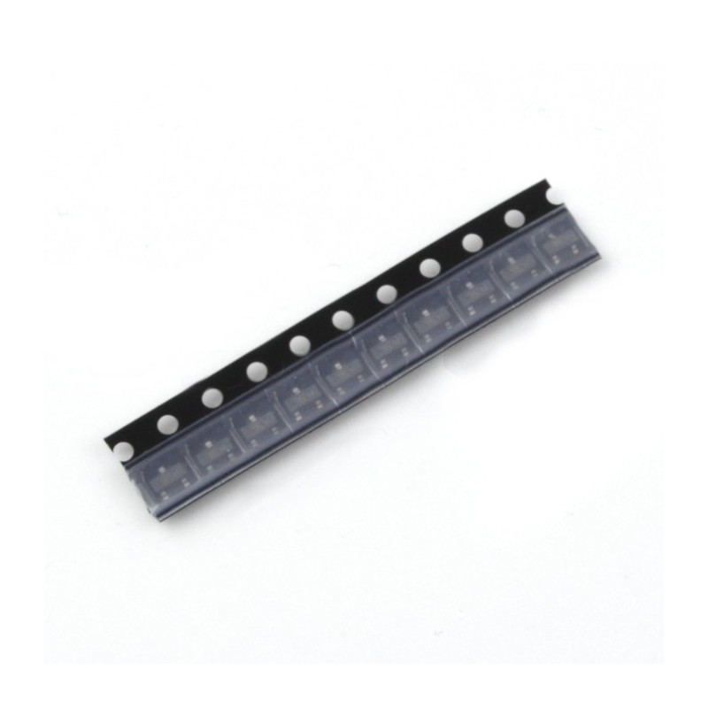 Bipolar transistor NPN BC847A 50V / 0.1A SMD - 10pcs_