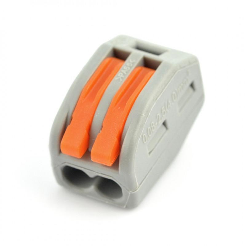 Kostka elektryczna 2pin 32A/400V - pomarańczowa