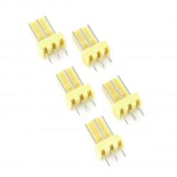 2,54 mm - plug 3-pin - 5 pcs