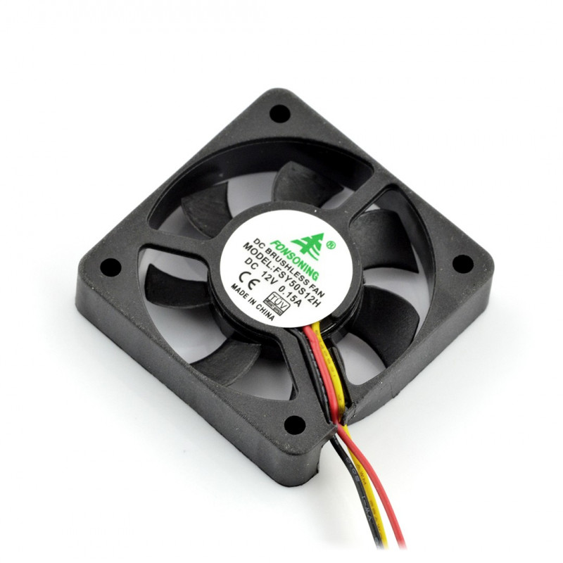 Fan 12V 50x50x10mm 3 wires*