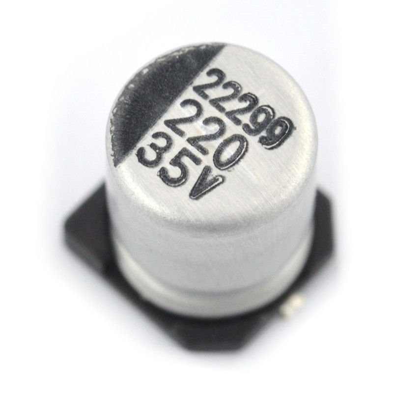 Kondensator elektrolityczny 220uF/35V SMD - 5 szt.