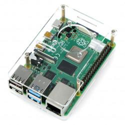 Obudowa Raspberry Pi Model 4B/3B+/3B/2B - przezroczysta otwarta LT-4B04