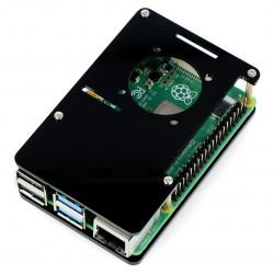 Case for Raspberry Pi Model 4B/3B+/3B/2B - black open LT-4B04