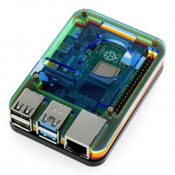 Obudowa Raspberry Pi Model 4B/3B+/3B/2B - wielokolorowa - LT-4B05