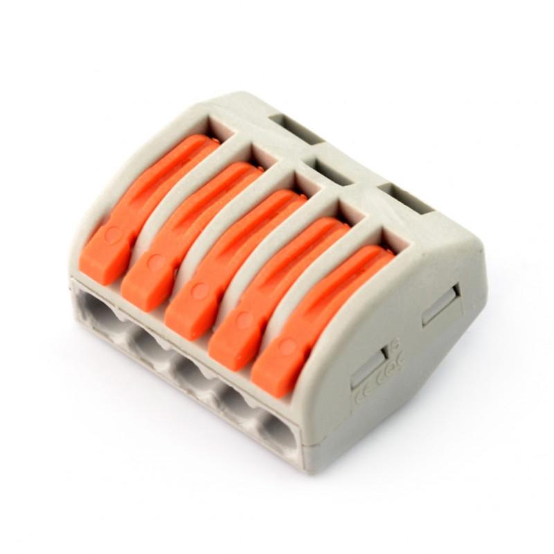 Kostka elektryczna 5pin 250V - pomarańczowa
