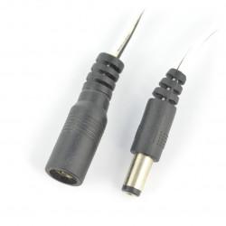 Zestaw gniazdo + wtyk DC 5,5/2,1 mm z przewodem 60cm
