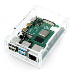 Obudowa Raspberry Pi Model 4B - przezroczysta - LT-4B09