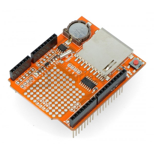 DataLogger Shield V1 0 RTC DS1307 with SD reader - Shield for Arduino -  Iduino ST1046*