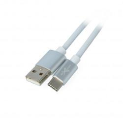 Przewód eXtreme USB 2.0 Typ-C silikonowy biały - 1m