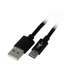 EXtreme USB 2.0 cable Type-C silicone black - 1,5m